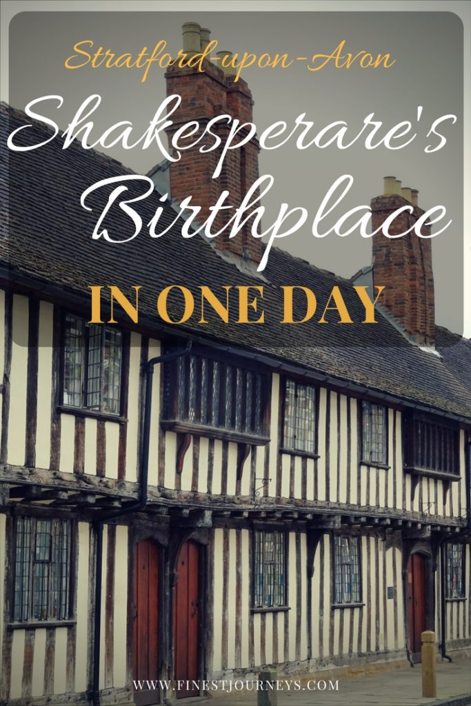 shakespeare birthplace in one day, stratford upon avon, Blog Post Pin