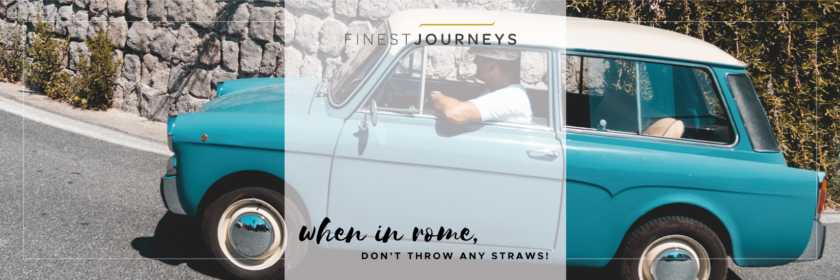 IMG : When in Rome, Don't Throw any Straws!