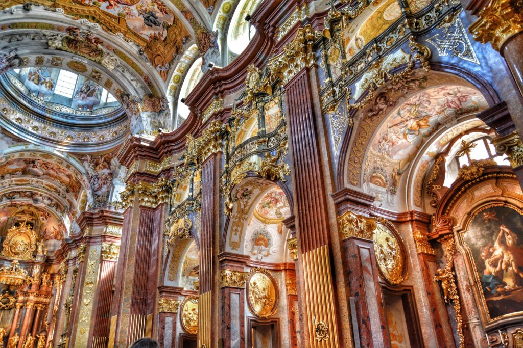Melk Abbey interior, Austria