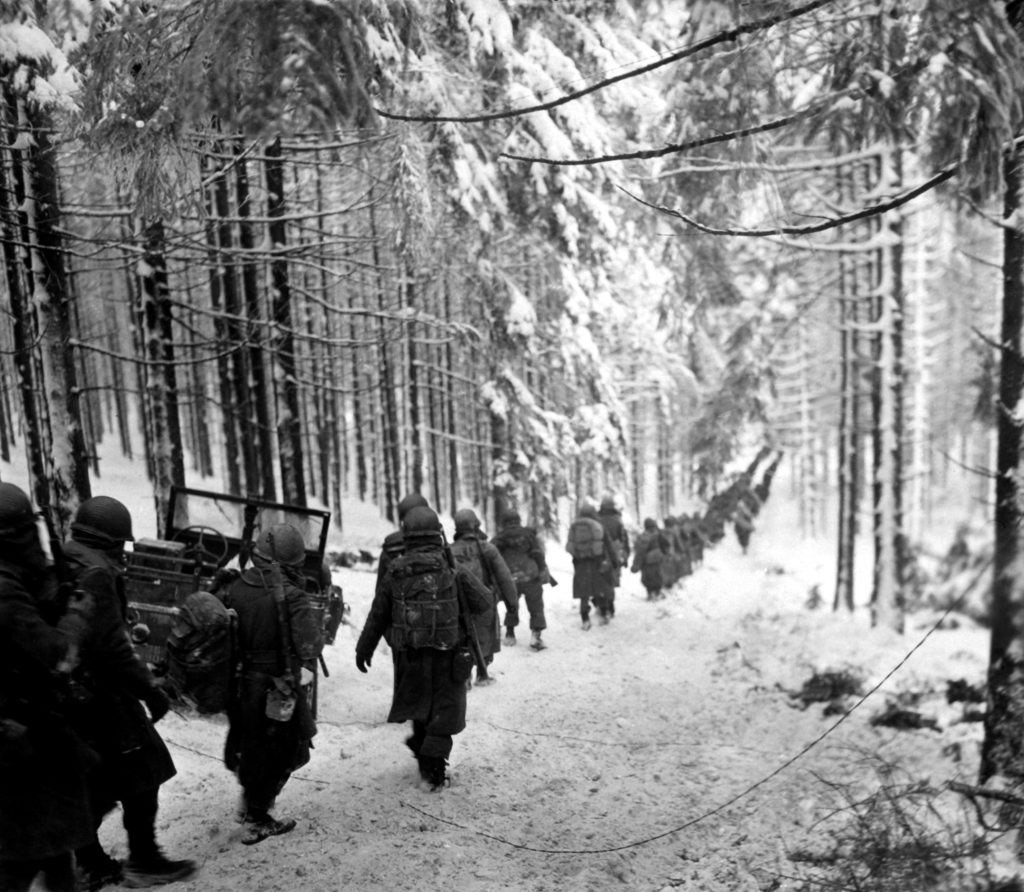 American soldiers in forest